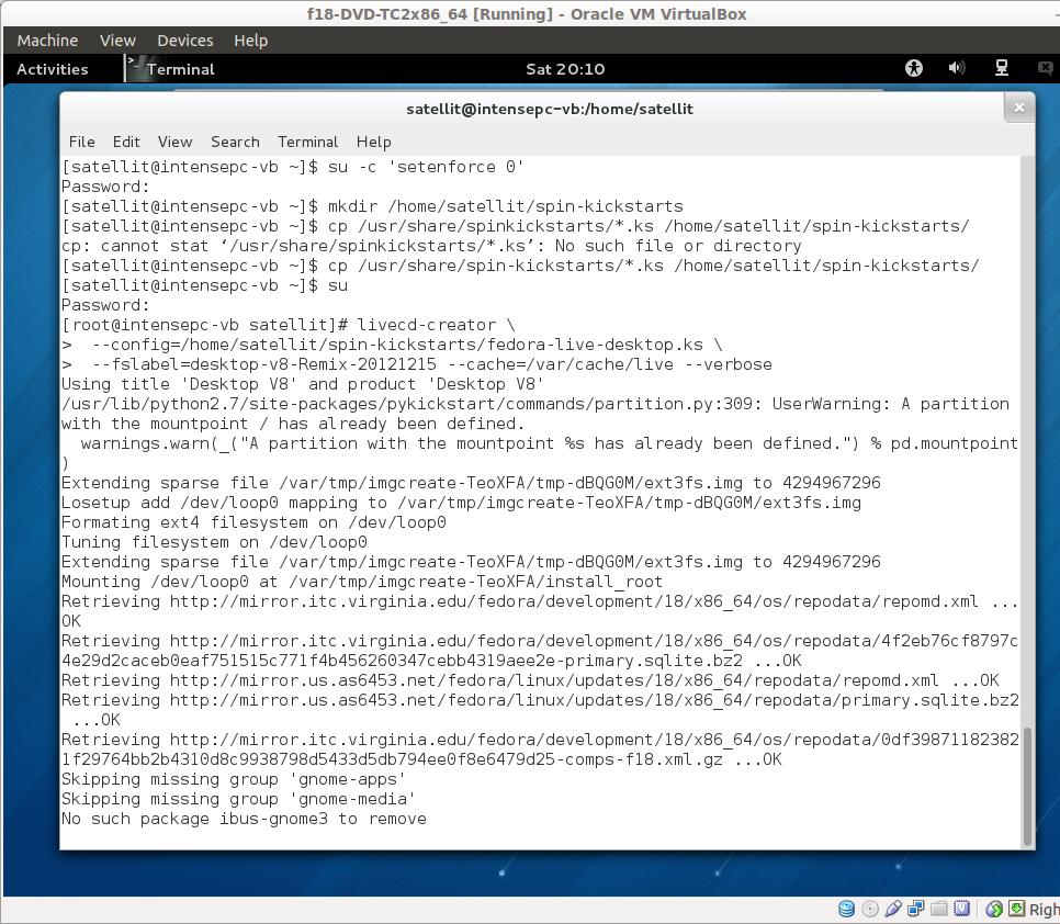 Tutorials/Installation/Build Your Own Remix with Fedora